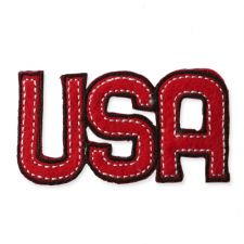 'USA' MOTIF IRON ON EMBROIDERED PATCH APPLIQUE